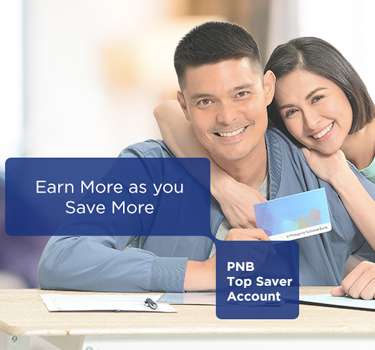DingDong Dantes and Marian Rivera holding a PNB passbook.